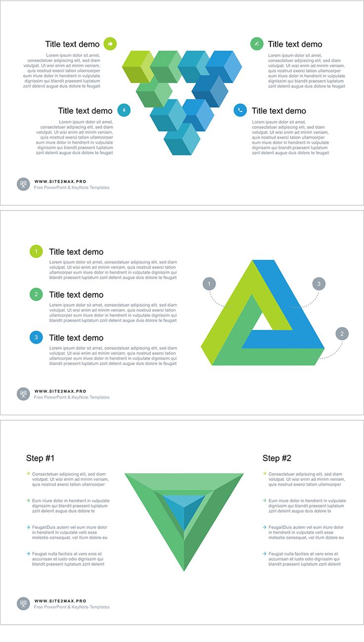 "Free PowerPoint ""Triangle"" Download link: http://site2max.pro/triangle-free-powerpoint-template/ #triangle #infographic #powerpoint #ppt #pptx #green"
