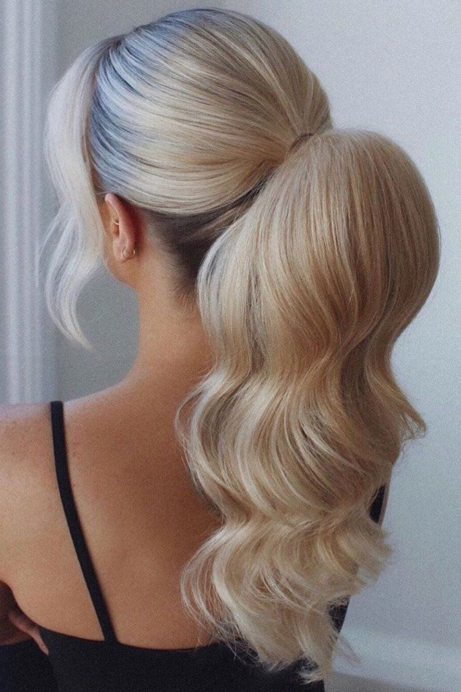 37 Modern Pony Tail Hairstyles Ideas For Wedding Wedding Forward In 2020 Hair Styles Tail Hairstyle Wedding Hairstyles For Long Hair