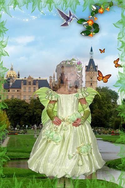 Платье феи в фотошопе