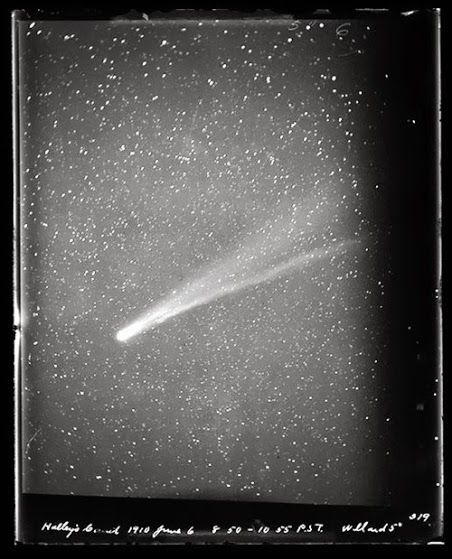 A view of Halley's Comet from UC Santa Cruz's Lick Observatory on June 6, 1910
