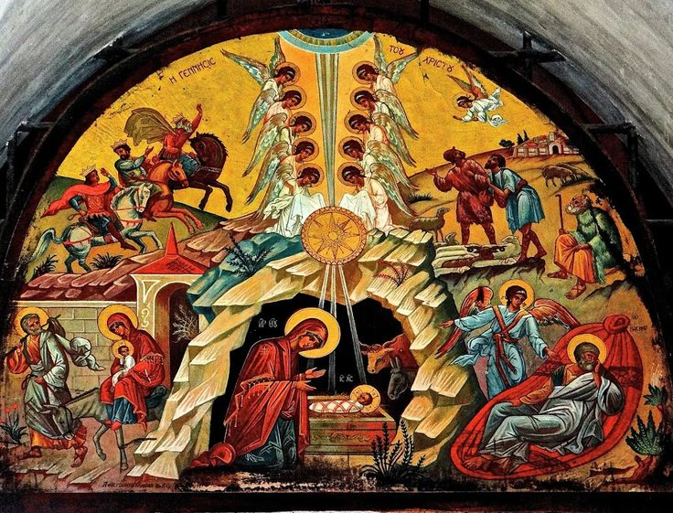 Nativity Mural in Church of the Nativity by Steven Aicinena - Buildings & Architecture Places of Worship ( bethlehem, church of the nativity, mural, nativity,  )