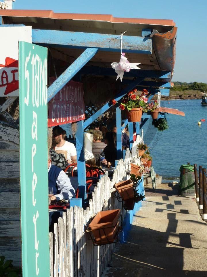 Seafood restaurant, Torre Colimena, Puglia, Italy