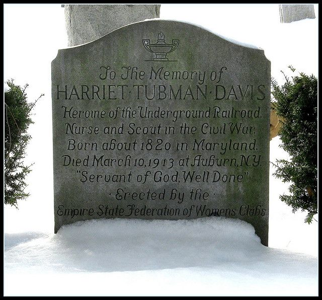 Harriet Tubman Davis Grave, Auburn, NY. Born Arminta Ross, she received the surname Tubman from her first husband, John Tubman, who was was married to 1844-1851. She changed her first name to her mother's name (Harriet) shortly after she married Tubman. In 1869, she married Nelson Davis, who she was married to until his death in 1888.