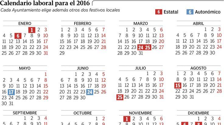 calendario 2016 con festivos - Buscar con Google