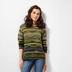 Modell 377/6, Pullover aus Crazy Zauberball von Schoppel-Wolle, 2 versch. Farben
