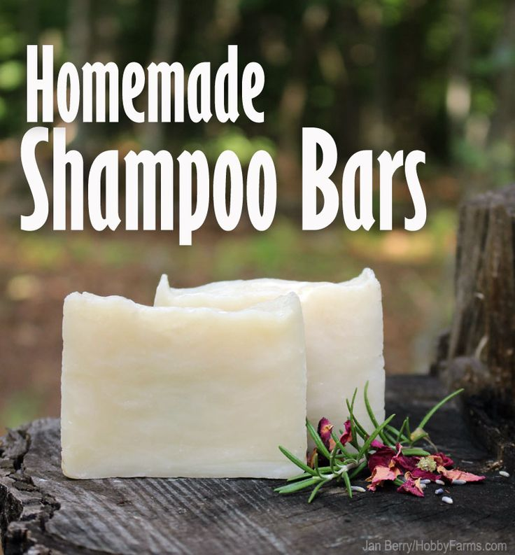 Suds up in the shower with natural, homemade shampoo bars.