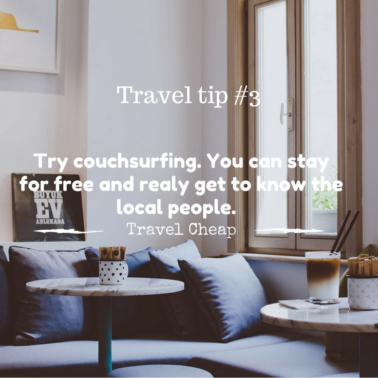 Travel tip 3. Try couchsurfing. #travelcheap #budgettip