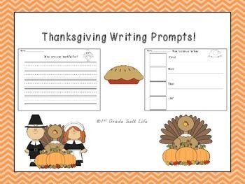 5 {fun} Thanksgiving writing prompts