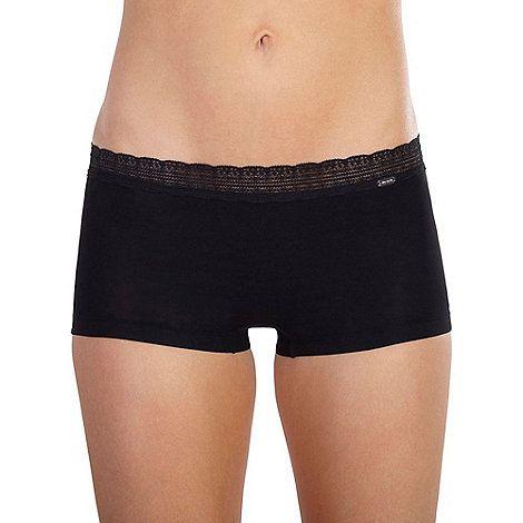 Ten Cate Black 'Luxury Cotton' lace band shorts | Debenhams