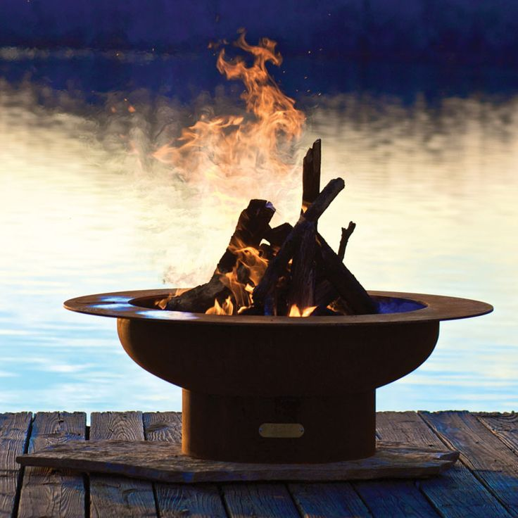American Made Firepit Art Saturn Fire Pit From Plow U0026 Hearth
