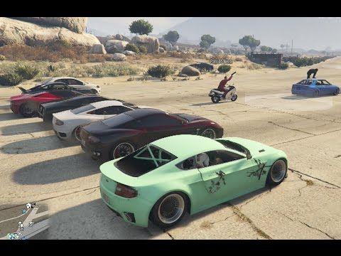 Gta 5 Online PS4 Car Meet, Cruise And Drag Racing #8 (Next Gen