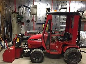 Honda 5518 with snowblower and cab. | Tractors | Pinterest | Tractor and Honda
