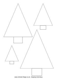 Christmas tree template + other Christmas themed templates (stars, ornaments, holly, stockings etc.)
