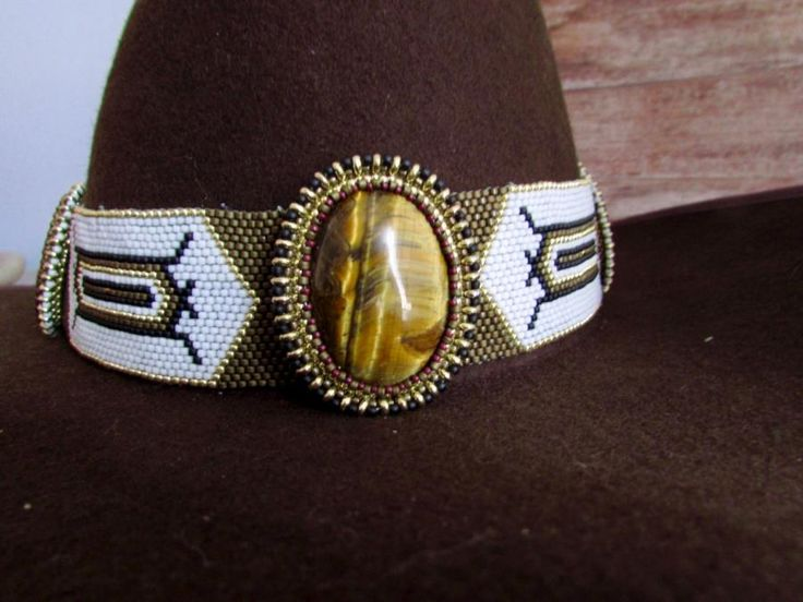 Beadstitched Hat Band by Shelly Owen
