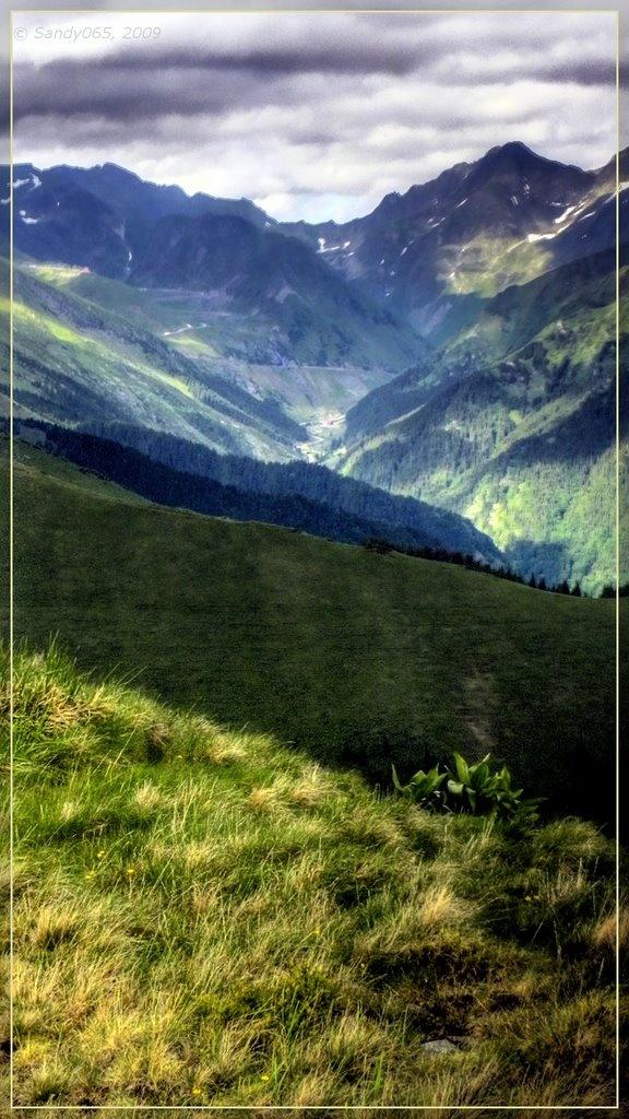 View to Capra Valley from Mt. Florea - Făgăraş, Romania
