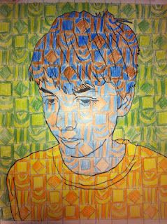 Chuck close inspired portraits.  I love these portraits and my students creative very effective works of art using this technique.