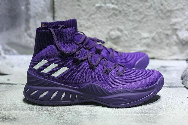 6624d47687b adidas Crazy Explosive 2017 Primeknit Purple White B49394 Basketball Shoe  For Sale
