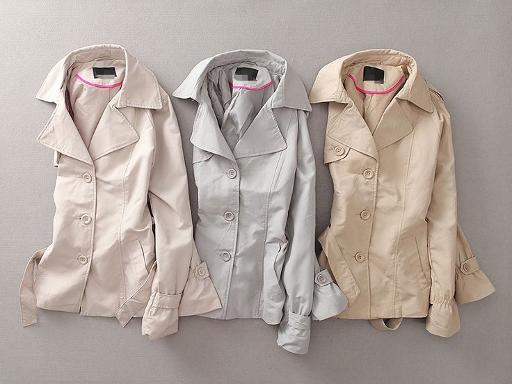 EVER 秋季新款女装纯色中长款大翻领通勤风衣外套经典百搭气质R5-淘宝网