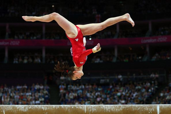 A stunning display on the balance beam! I myself am not allowed anywhere near one.