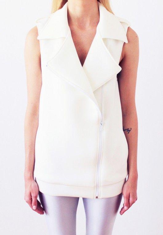 Neoprene white vest