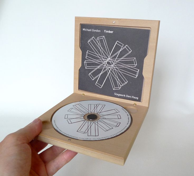 Wooden CD case: Timber CD Packaging