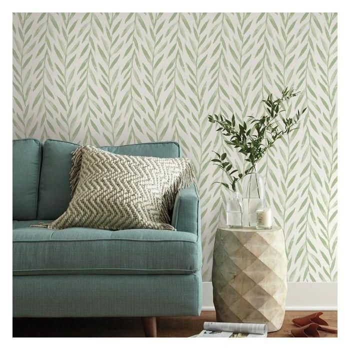 Willow Peel Stick Wallpaper In Green By Joanna Gaines For York Wallc In 2020 Magnolia Homes Grey Wallpaper Peel And Stick Wallpaper
