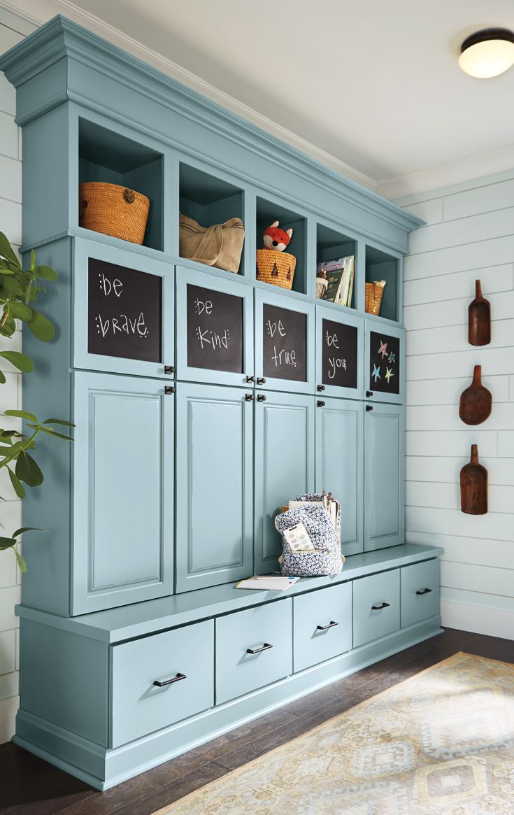 Make Your Morning Routine A Little Easier With Smart Family Friendly Hallway Storage Hallway Storage Mud Room Storage Home