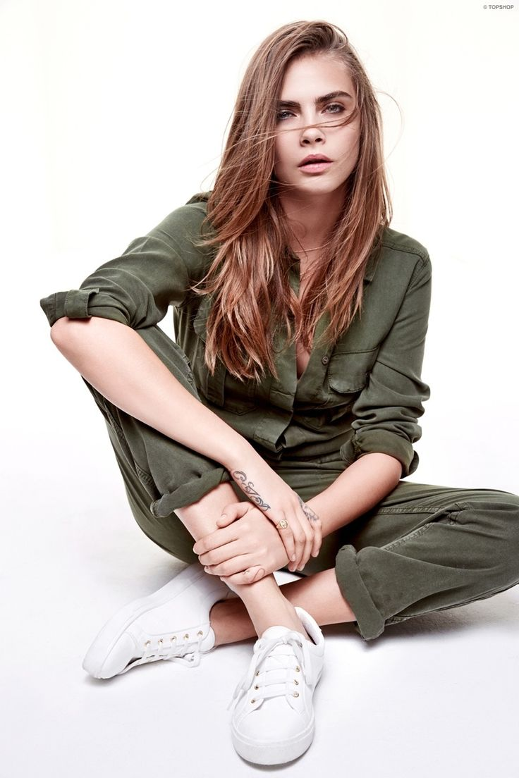 This green jumpsuit is a standout piece of the collection