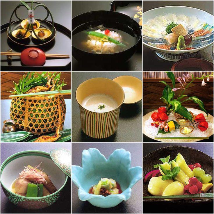 京都嵐山 吉兆 懐石  先付、煮物椀、造り、焼き物、 箸休め、八寸、炊き合わせ 酢の物、果物