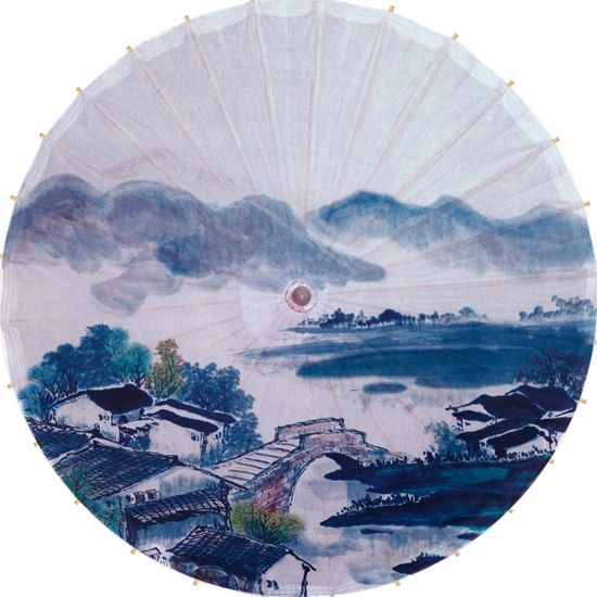 26.42$  Watch now - http://aliynd.shopchina.info/go.php?t=1253125432 - Free shipping Chinese traditonal small bridge flowing water painting umbrella rainproof and sunshade oiled paper umbrella  #buyonline