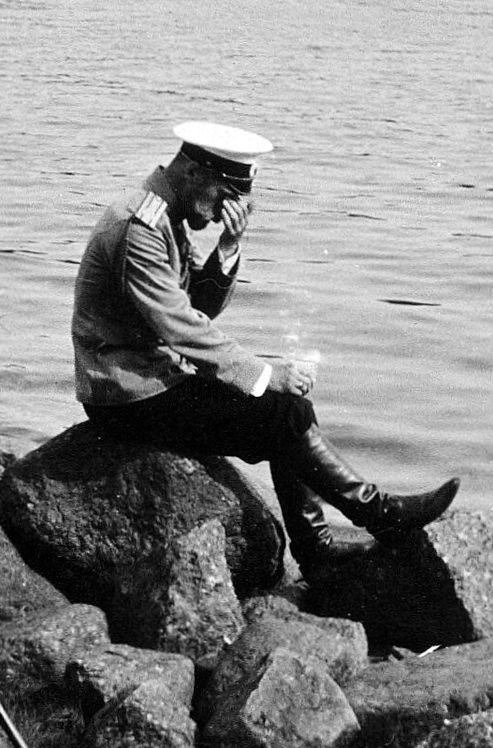 Nicholas II - ill prepared and unprepared to become Tsar. Such a sorrowful photograph of the Tsar -  a man out of touch with reality.