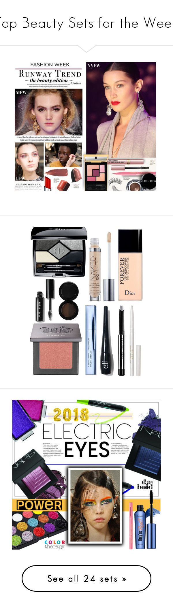 """""""Top Beauty Sets for the Week"""" by polyvore ❤ liked on Polyvore featuring beauty, Too Faced Cosmetics, Trish McEvoy, L'Oréal Paris, Bobbi Brown Cosmetics, By Terry, Yves Saint Laurent, BeautyTrend, fashionWeek and Christian Dior"""