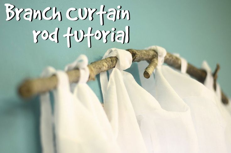 use a branch for a curtain rod.....this would be perfect for my room!! LOVE IT!