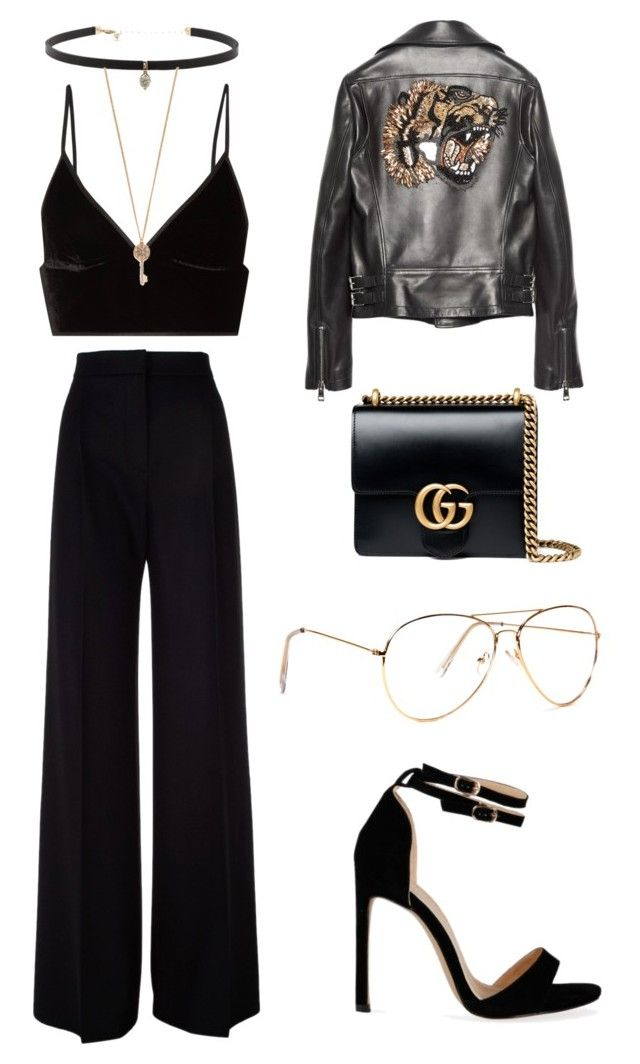 """""""Metal and Black"""" by explorer-14776973629 ❤ liked on Polyvore featuring T By Alexander Wang, MaxMara, Carbon & Hyde, Aéropostale and Gucci"""
