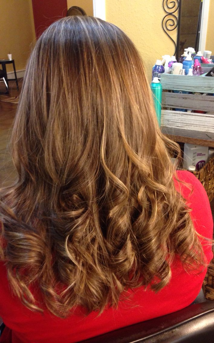 Carmel Highlights Redish Brown Low Lights Hair Styles