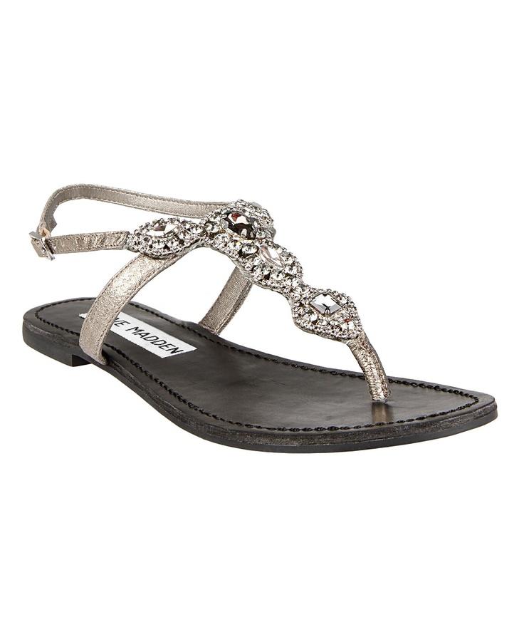 485c5fc31c4 Steve Madden Sandals Flat ~ Gold Sandals