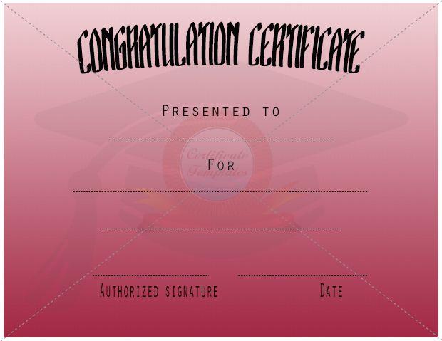 Congratulation Certificate