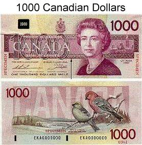 canadian currency | ... account home xr currency photos canada post view 1000 canadian dollars