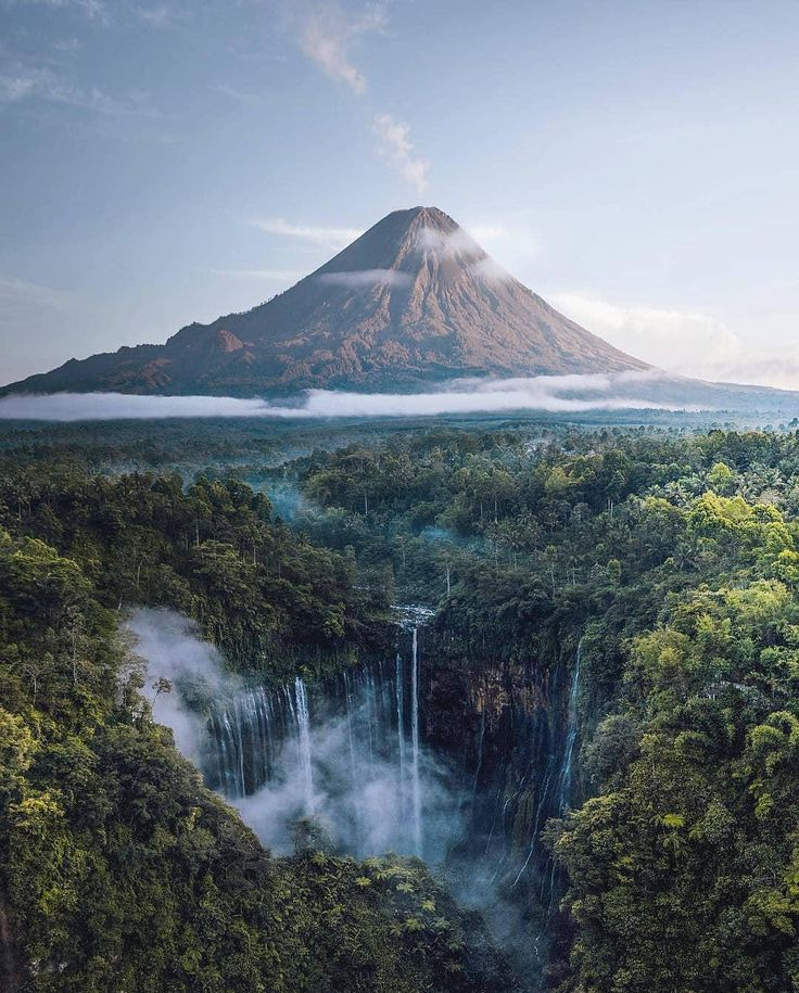 This pic of the Tumpak Sewu waterfall is straight up from an epic adventure movie. : pics