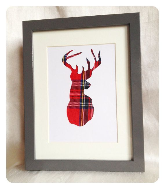 Hand Crafted Stag - Royal Stewart Tartan. Again alot of things you can do with this idea.