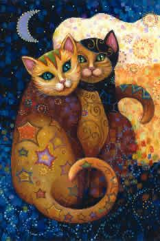 Moonlighting. #cats #art #cute #moon