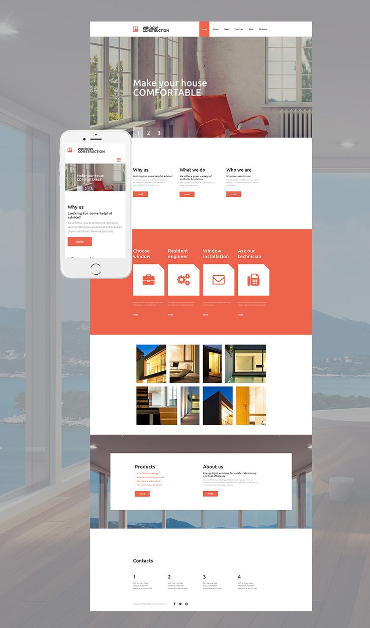 Interior Design Website Theme With ResponsiveDesign