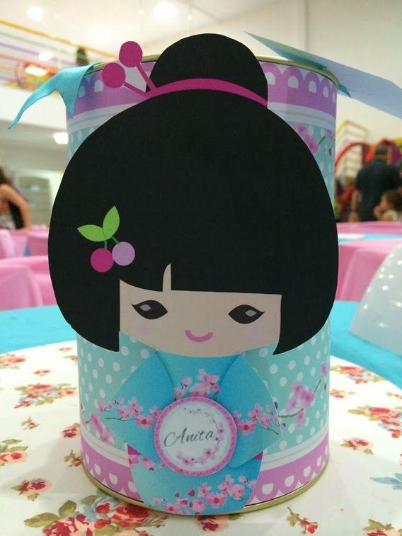 Carol Gaia: Festa de Menina | Festa Kokeshi