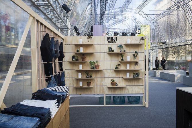 Muji pop up flexible display melbourne spring fashion for Outdoor furniture jeddah