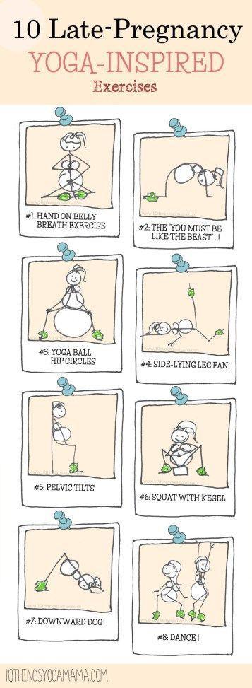 10 Late-Pregnancy Yoga-Inspired Exercises. Prenatal yoga for 3rd trimester.