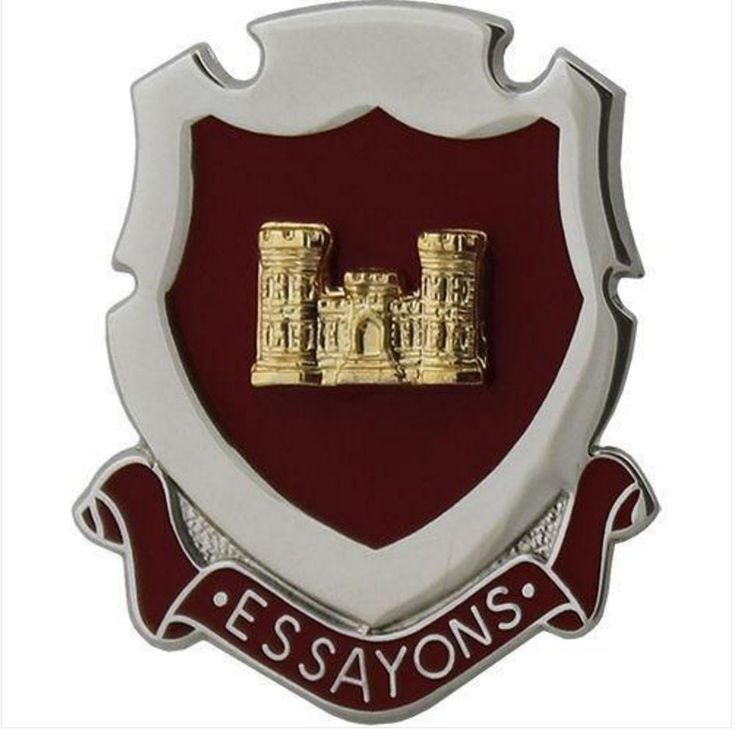 ARMY CORPS CREST: ENGINEER - ESSAYONS