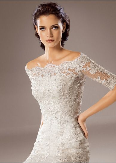lace off the shoulder wedding dress - Google Search