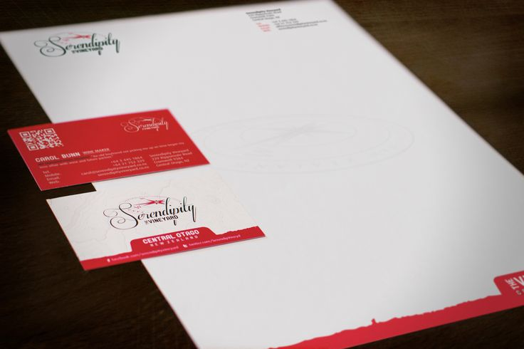 Serendipity Vineyard stationery suite design