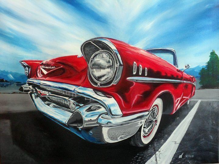 57 Chev Bel Air Drawings By Doug Cool Car Stuff Car