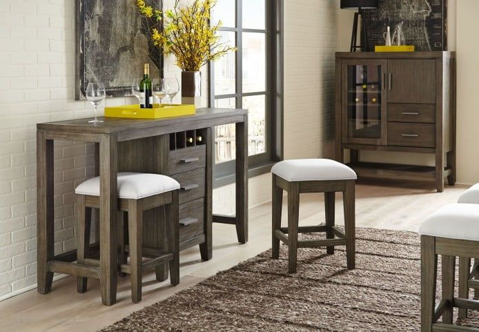 Superb Bravo Platinum Oak Console Table With 2 Cafe Stools In 2019 Pabps2019 Chair Design Images Pabps2019Com